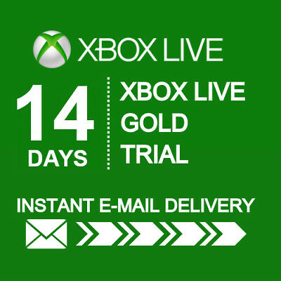 XBOX LIVE 14 Day GOLD Trial Membership Code INSTANT DISPATCH - 2 Weeks 14 Days 2