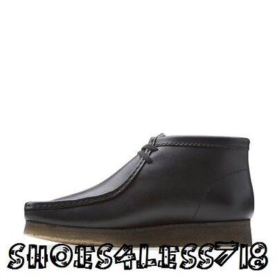 Clarks Originals Men/'s Size 8 Wallabee Boot Black Leather 26103666 100/%Authentic
