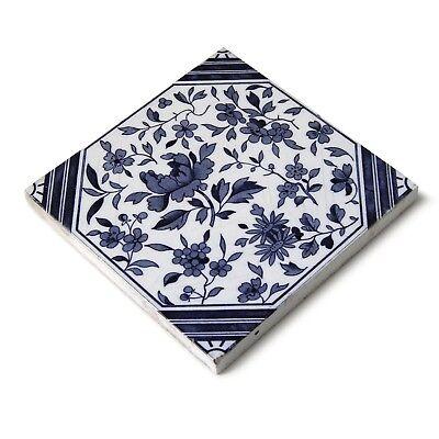 Antique Tile Victorian Aesthetic Japonesque Floral International Tile Delft Blue 10