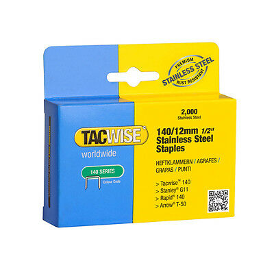 Tacwise 140 Type Stainless Steel Staples X 2 Boxes 4