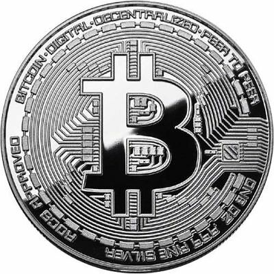 Bitcoin Proof 1 oz .999 fine Solid silver commemorative AOCS limited 2016 w/ COA 2