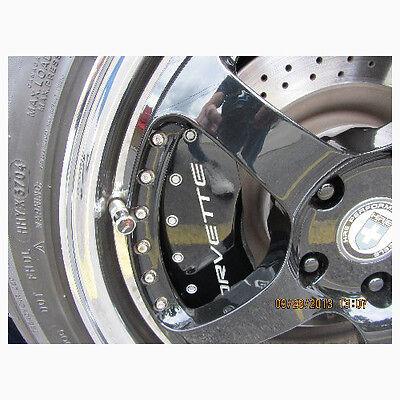 Chevrolet Corvette Z06 Black Tire Valve Stem Caps - USA MADE - C7 - C6 - C5 - C2