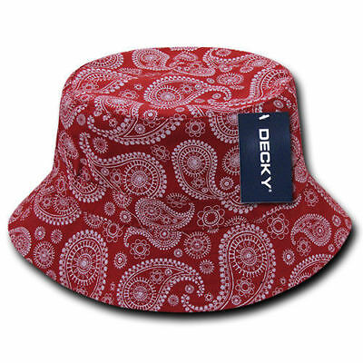 439e32437b3 ... Decky Paisley Bandana Design Fitted Bucket Boonie Hats Caps Cotton 2  Sizes 3