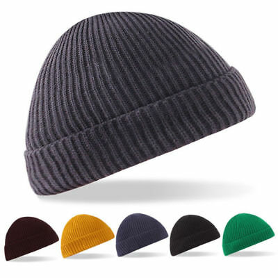 62888f951ee3a4 ... Fisherman Beanie Knitted Ribbed Hat Retro Vintage Mens Womens Cap  Colorful 6