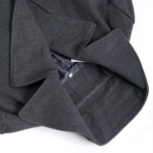 Mens Stylish Trench Coat Winter Warm Jacket Double Breasted Overcoat Windbreaker 6