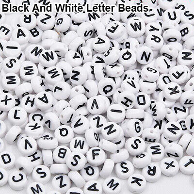 100Pcs Spacer Acrylic Beads Cube Alphabet Letter Bracelet Jewelry Making DIY HOT 7