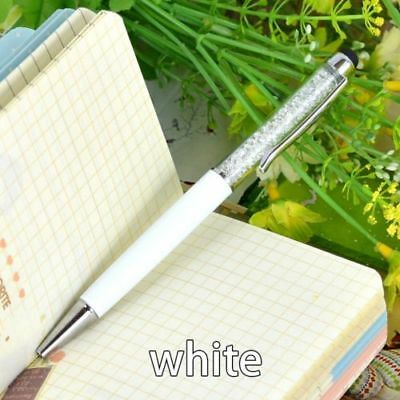 New Diamond Crystal Pen Glittering Ballpoint Stylus Touch Stationery Gift 2 IN 1 12
