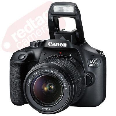 Canon EOS 4000D / Rebel T100 SLR Camera + 3 Lens Kit 18-55mm+ 16GB+ Flash & More 2