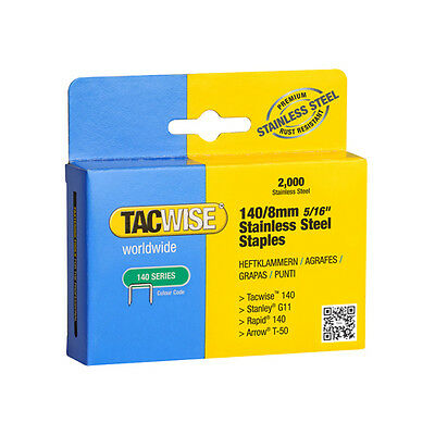 Tacwise 140 Type Stainless Steel Staples X 2 Boxes 2