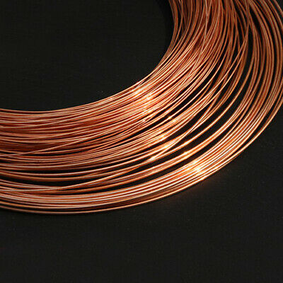 1000mm Long 0.1/0.2/0.3/0.4mm-5mm Diameter T2 Copper Conductive Line Red Wire 1M 2