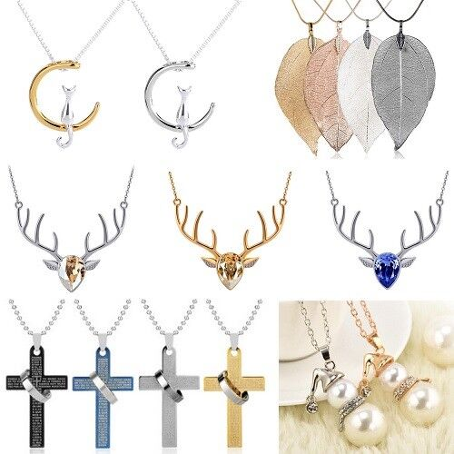 Natural Quartz Crystal Point Chakra Healing Stone Pendant Necklace Gemstone Gift 2