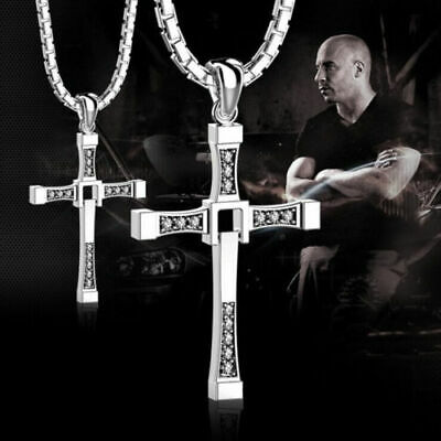 Collana Toretto FAST AND FURIOUS Uomo Croce STRASS Dominic VIN DIESEL 2