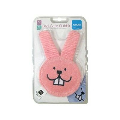 MAM Oral Baby Care Rabbit│Plaque /& Bacteria Cleaner│Sensitive Gum Massager│0+m