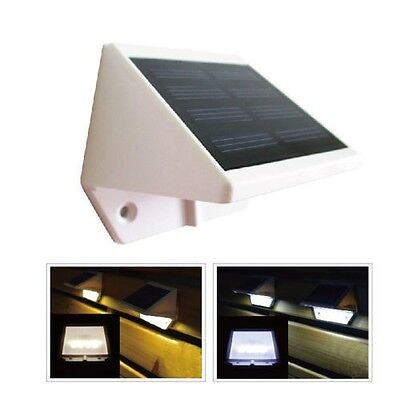 4 LED Solar Powered Stairs Fence Garden Security Lamp Outdoor Waterproof Light 6