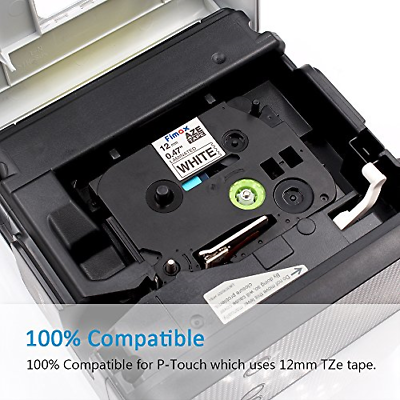Fimax Tech Compatible Label Tape TZe-231 TZe231 TZ231 for Brother P-Touch 1010, 4