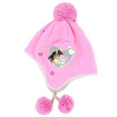 Scarf and Glove Sets Pink Kids Hat Pink Fleece Cute Tatty Teddy Sets BN