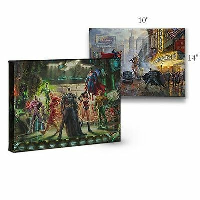 Thomas Kinkade DC Batman, Superman, Wonder Woman 10 x 14 Gallery Wrap Canvas