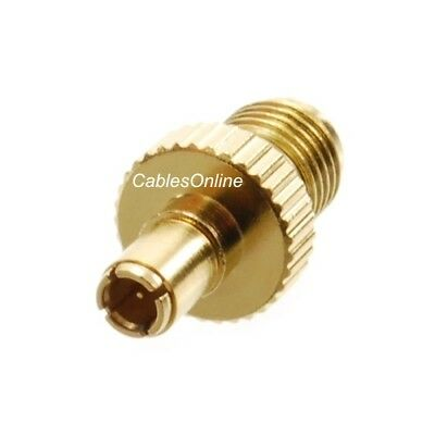 10-Pack SMA Male Plug to UHF Female Jack Silver//Gold RF Adapter RF-M132-10