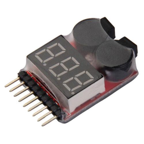 RC Buzzer 1-8S Lipo Alarm Warner Schutz Checker Voltage  Pieper LED Tester