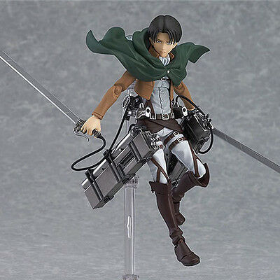 HOT Anime Shingeki No Kyojin Attack on Titan 15cm Rivaille Action Figure PVC Toy 6