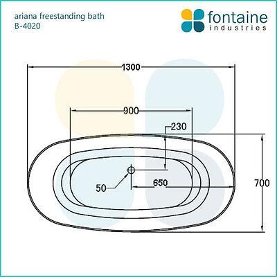 Freestanding Bath 1300 Compact Acrylic White Round Modern Bathtub 4