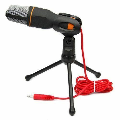 Pro Condenser Sound Podcast Studio Microphone + Stand For PC Laptop Skype MSN 2
