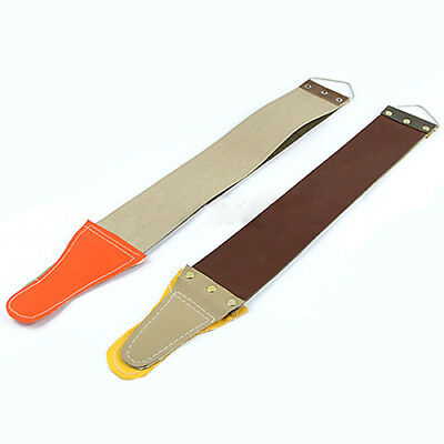 Pro Brown Barber Leather Straight Razor Sharpening Strop Shave Shaving Strap New
