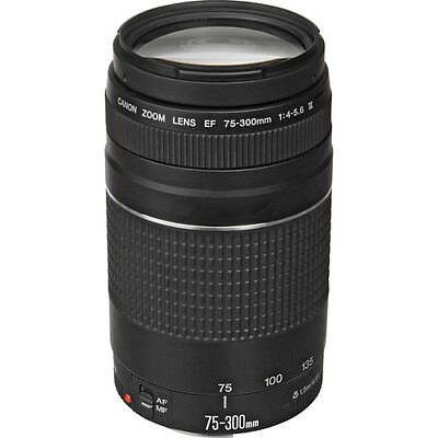 Canon EF 75-300mm f/4-5.6 III Autofocus Lens for EOS T6 T6s T6i T5 T5i  USA 2