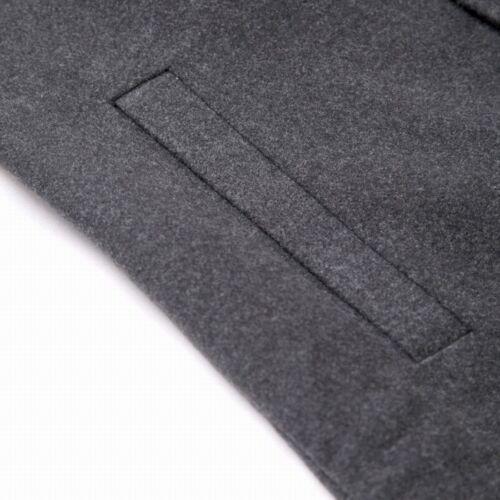 Mens Stylish Trench Coat Winter Warm Jacket Double Breasted Overcoat Windbreaker 8