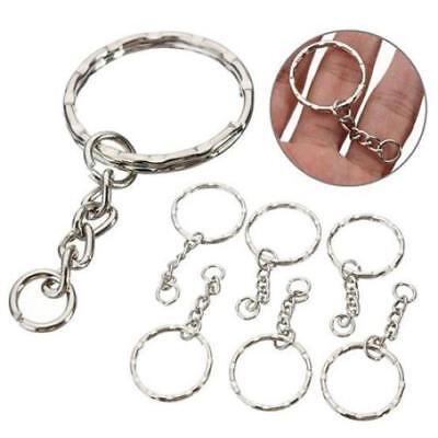 50-200PCS Lot Key Rings Chains Split Ring Hoop Metal Loop Steel Accessory 25MM A 3