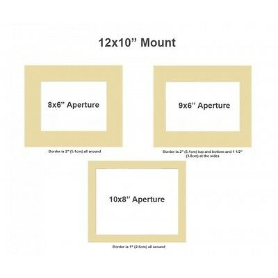 """Lots of Colours 12x12/"""" Picture// Photo Bevel Edge Mount with 8x8/"""" Aperture"""