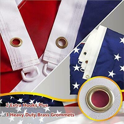8'x12' ft American Flag US USA | EMBROIDERED Stars, Sewn Stripes, Brass Grommets 4