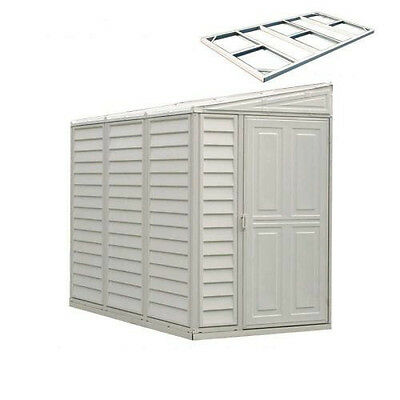 DURAMAX 4X8 SIDEMATE Vinyl Shed with Foundation [06625]