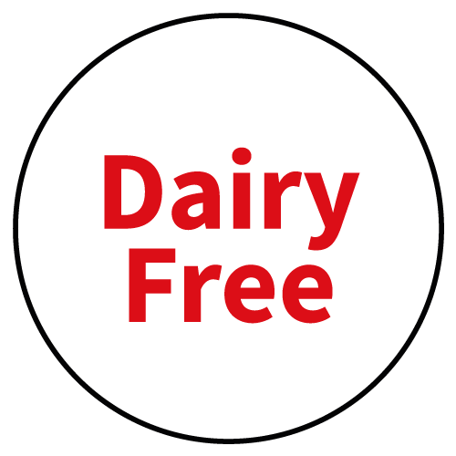 """""""Dairy Free"""" Stickers - Food Allergy Labels - Various Colours and Sizes 2"""