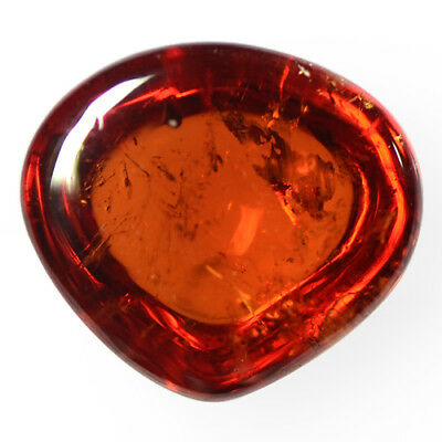 3.2 Cts Natural Fanta Orange Mandarin Spessartite Garnet Fancy Heart Cab Namibia