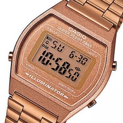 Casio Unisex Rose Gold Stainless Steel Digital Light Alarm Watch B640Wc-5Aef 2