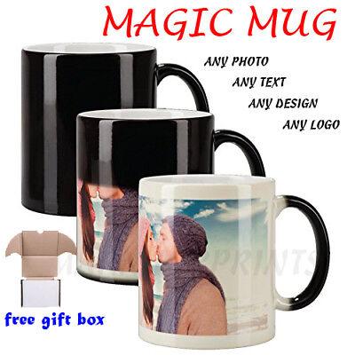 Personalised Magic Mug Cup Heat Colour Changing Custom Photo Text Birthday Gift 6