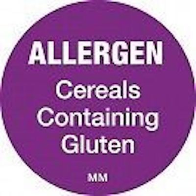 Day dot allergen label stickers to comply with FIC FIR allergy Regulations 3