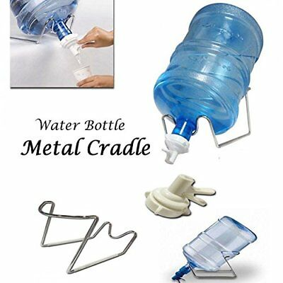Chrome 1-5 Gallon Water Jug Stand /& Water Dispenser Valve Fit 55mm Crown Top.