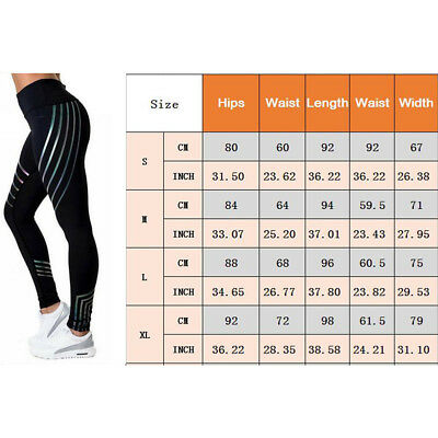 Women Yoga Gym Stretch Trousers Leggings Fitness Running Sports Pants High Waist