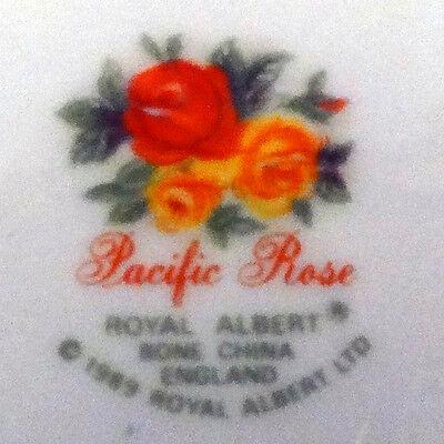 """PACIFIC ROSE Royal Albert Cereal Bowl 6.25"""" diameter  Bone China NEW NEVER USED 3"""