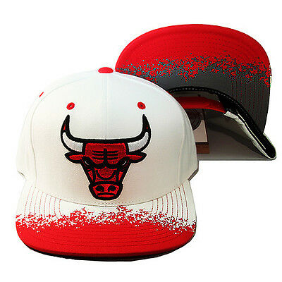 Details about Mitchell & Ness NBA Chicago Bulls Snapback Hat Air Jordan Retro 13 True Red Cap