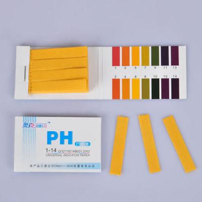 160 pH-Indikator-Teststreifen 1-14 Lackmuspapier Wassertest Skala Tester 3