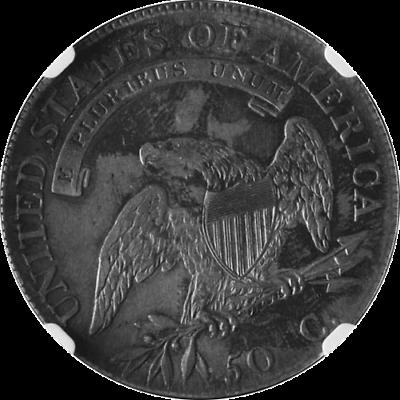 1808/7 Bust Half Dollar CAC Sticker NGC AU55 CAC Sticker 0-101 R.1 2