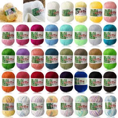 Stock Bamboo Cotton Warm Soft Natural Knitting Crochet Knitwear Wool Yarn 50g 2