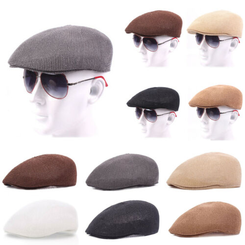 87c36256dd38 Men Duckbill Ivy Hat Cabbie Beret Flat Newsboy Gatsby Golf Driving Sun Cap  GIFT 7 7 of 12 ...