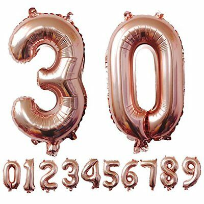 """32''/40"""" Number Shape Helium Foil Ballons Wedding Party Balloons Birthday Decors 12"""