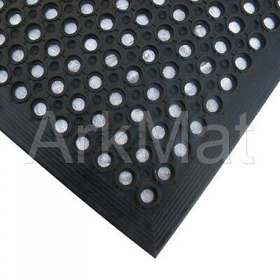 2 x Large Rubber Workplace Anti Fatigue Factory Flooring mats 3ft x 5ft x 12mm 4