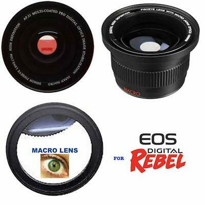Hd5 220° Wide Angle Fisheye Lens For Canon Eos Rebel Sl1 1300D T6 T5 6D 60D 80D 2