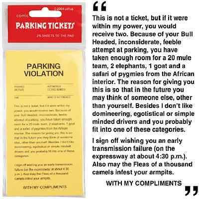 Yellow Revenge Fake Parking Tickets(25 tickets)-Parking Violation Gag Prank Gift 2